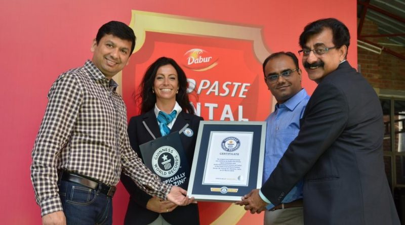 Dabur Red Paste creates Guinness Record