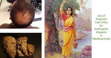 Use of Pregnant Cow Urine for Androgenic Alopecia in Medieval India